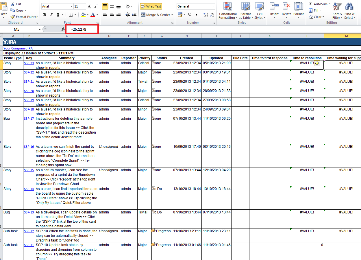 JSDSERVER SLA Values Are Incorrect When Exported Into Excel - Sla dashboard excel template