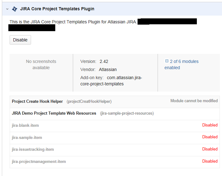 jira task template - jraserver 40104 allow to disable software development