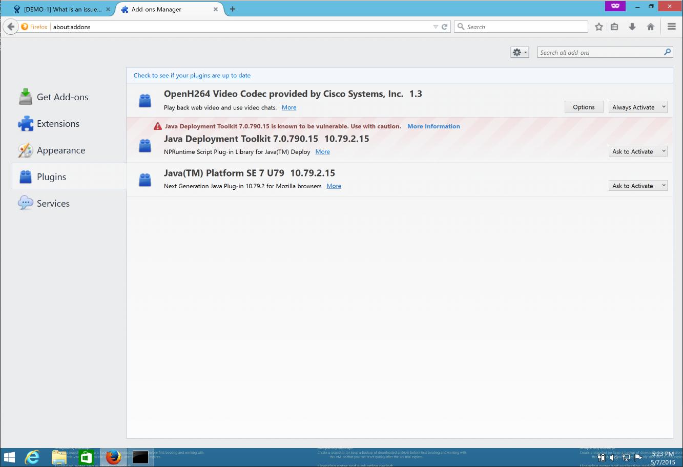 JRASERVER-43266] Java Deployment Toolkit , Pop up JAVA plugin