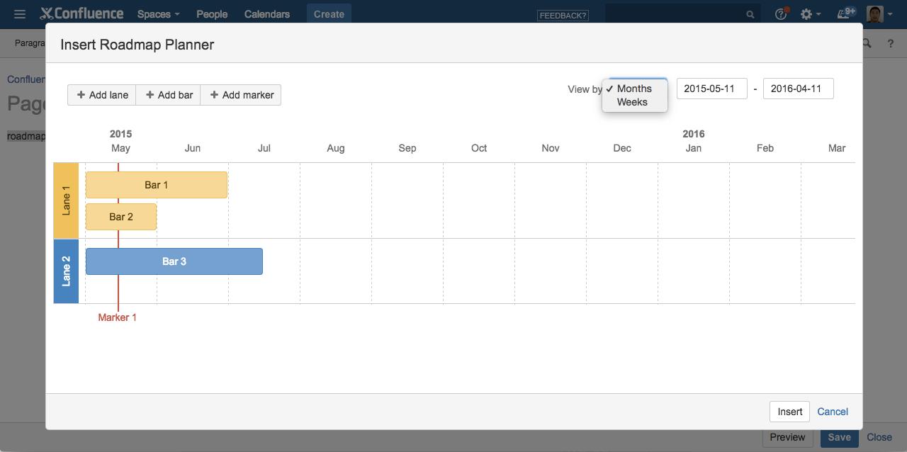 CONFSERVER Roadmap Planner Macro Ability To Go More Granular - Roadmap planner