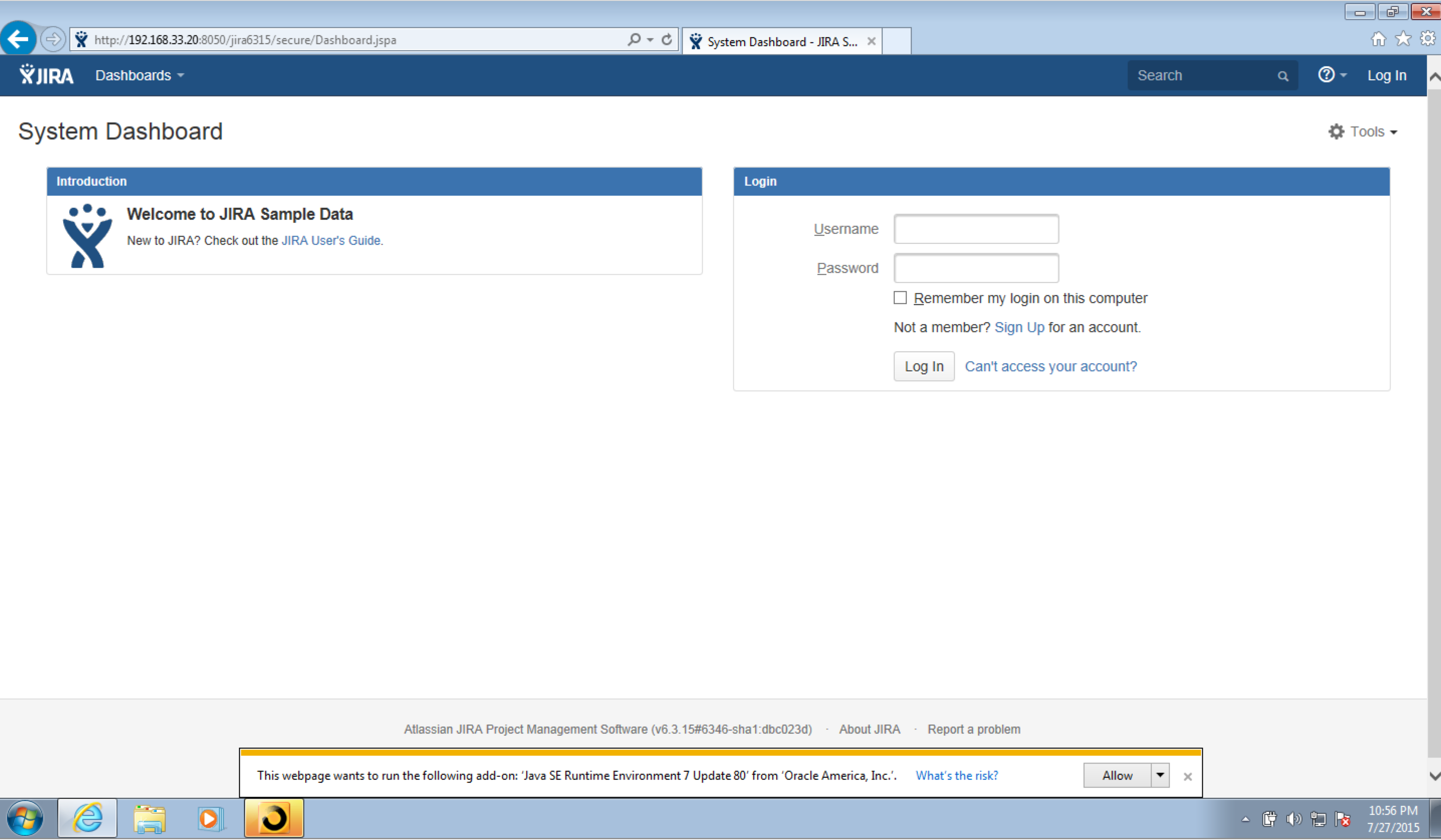 java se runtime environment 7 update 45