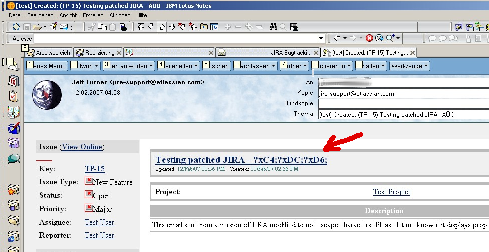 Jraserver 12151 Lotus Notes Email Client Doesn T