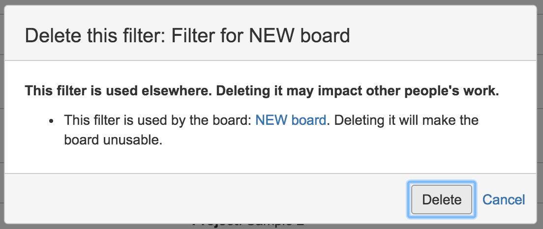 Jira delete board