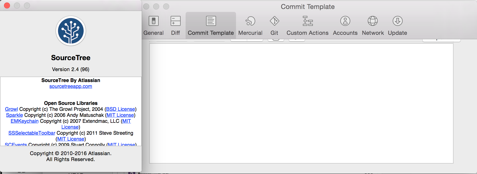 git commit template