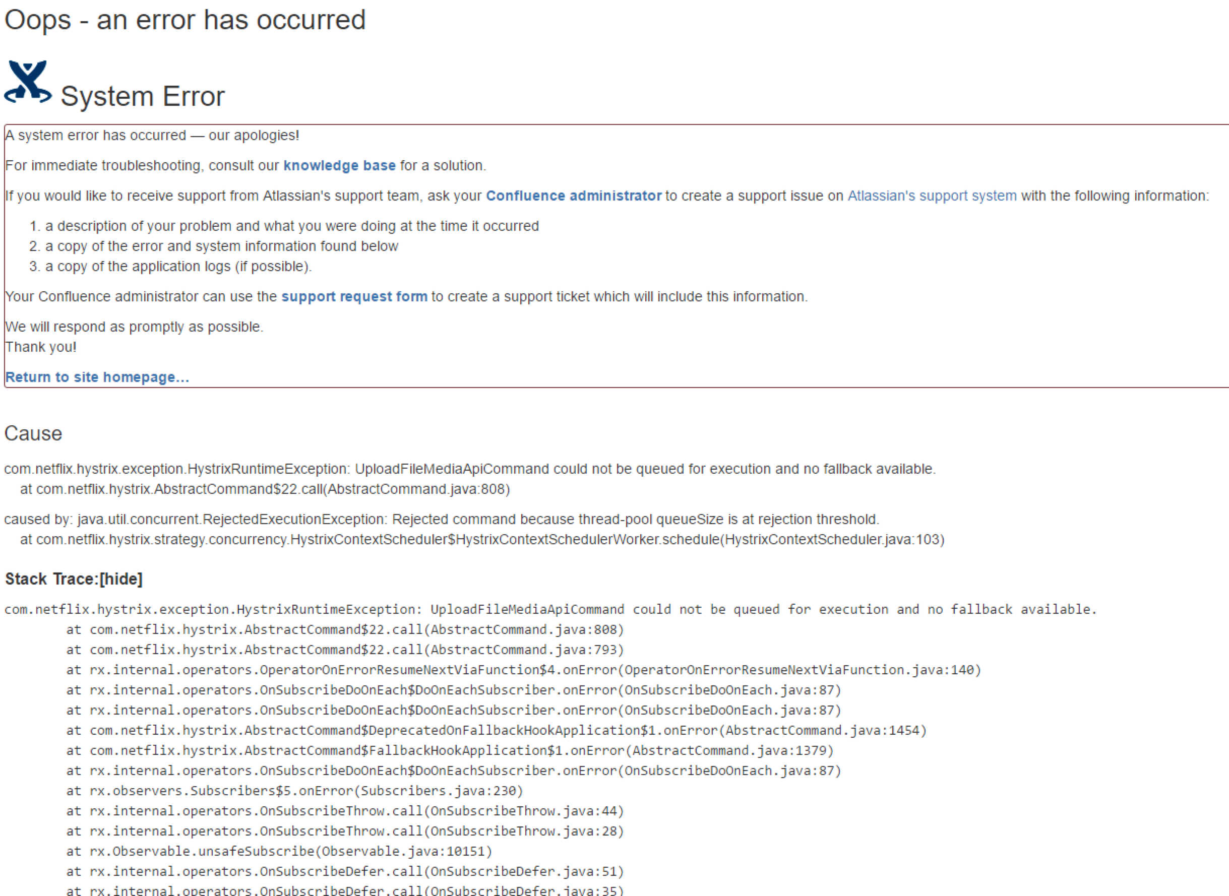 confcloud 52509 confluence cloud export fails returning com