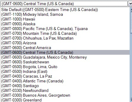how to create a timezone
