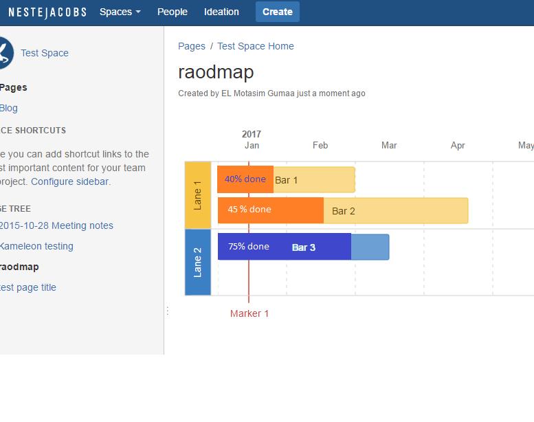 CONFCLOUD Roadmap Planner Macro Progress Percentage Display - Roadmap planner