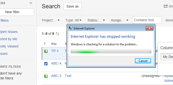 how to fix ie11 crashes