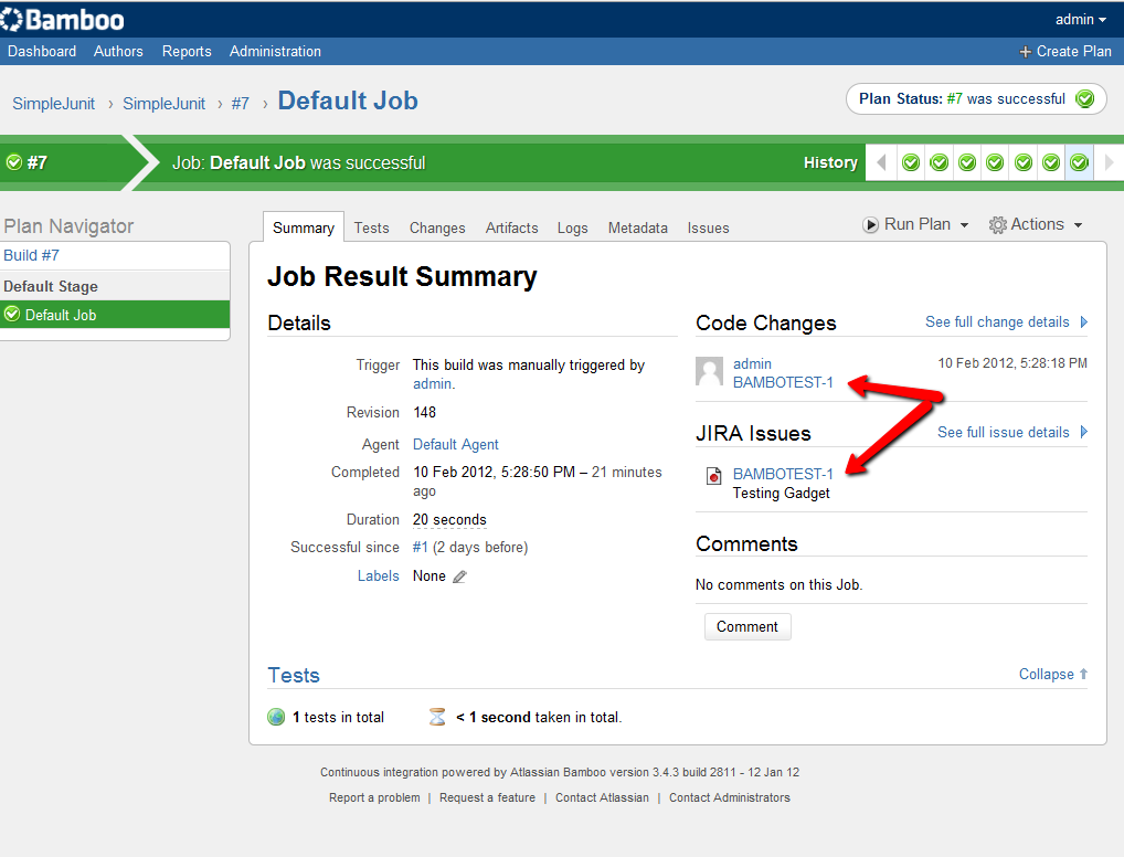 [BAM-10860] JIRA issue URL link is incorrect in build Code ...