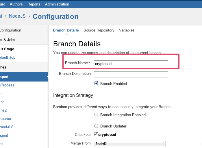 how to create a branch name