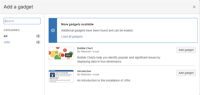 JIRA Cloud - I can see  ONLY two GADGETs. Missing all the (available) others to address user needs.png